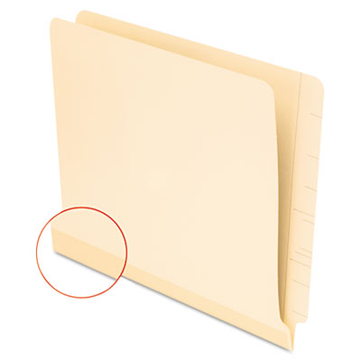Laminate Shelf File Folder, Straight Tab, 11 Point Manila, Letter, 100/Box
