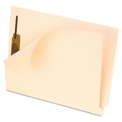 Anti Mold and Mildew End Tab File Folders, One Fastener, Letter, Manila, 50/Box
