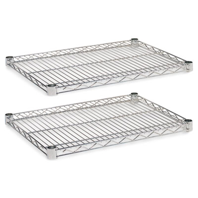 Industrial Wire Shelving Extra Wire Shelves, 24w x 18d, Silver, 2 Shelves/Carton