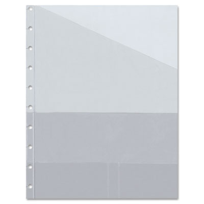 MiracleBind Notebook Storage Pocket Refill, Vinyl, 9-1/4 x 7-1/4, 3/Pack