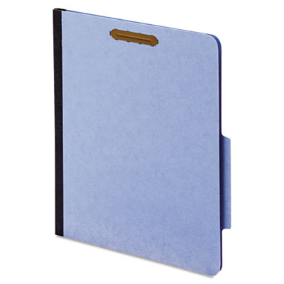 "40 Pt. Classification Folders, 2"" Fasteners, 2 sections, 2/5, Ltr, blue, 10/BX"