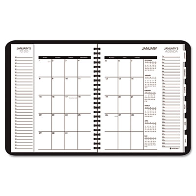 "Triple View Weekly/Monthly Appointment Book, Black, 6 7/8"" x 8 3/4"", 2013"