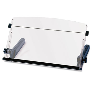 In-Line Freestanding Copyholder, Plastic, 300 Sheet Capacity, Black/Clear