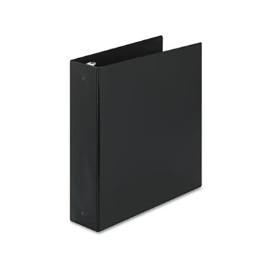 "Economy Round Ring Reference Binder, 2"" Capacity, Black"