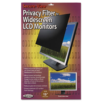 "Secure View Notebook/LCD Monitor Privacy Filter For 19"" Widescreen"