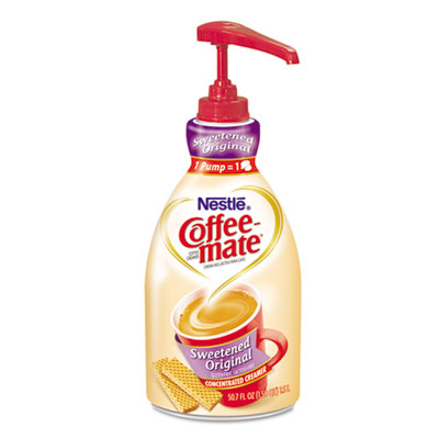 Liquid Coffee Creamer, Pump Dispenser, Sweetened Original, 1.5 Liter
