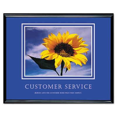 Inspirational Framed Pictures on Customer Service  Framed Motivational Print  30 X 24 By Advantus