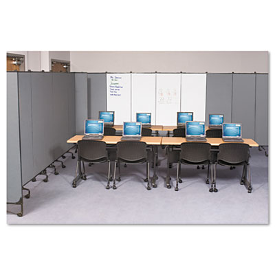 GreatDivide Wall System Markerboard Add-On Panel, 64w x 3d x 96h, Gray