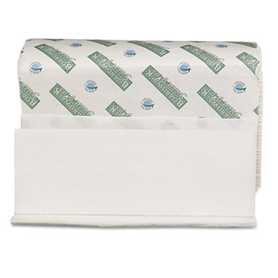Green Plus Folded Towels, Multi-Fold, White, 9 1/8 x 9 1/2, 250/Pack, 12/Carton