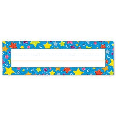 """Desk Nameplates, Stars, 9 1/2"""" x 3"""", 36/Set"""
