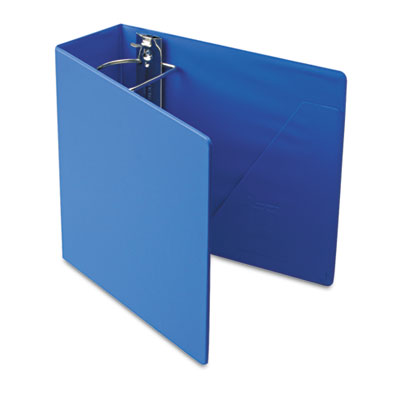 "Heavyweight Vinyl Slant-D Ring Binder, 4"" Capacity, Blue"