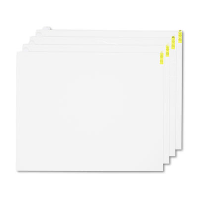Walk-N-Clean Mat 60-Sheet Refill Pad, 30w x 24h, 4/Carton, White
