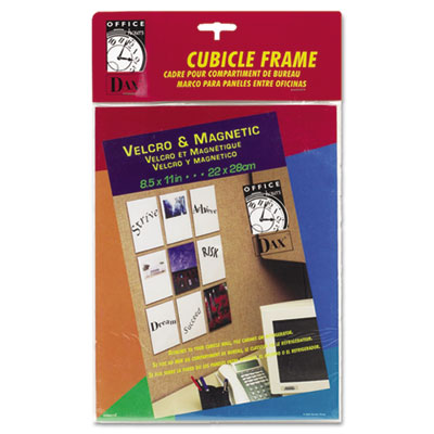 Velcro Magnetic Cubicle Photo Document Frame, Acrylic, 8-1/2 x 11, Clear