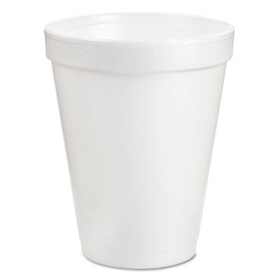 Drink Foam Cups, 8 oz., White, 40 Bags of 25/Carton