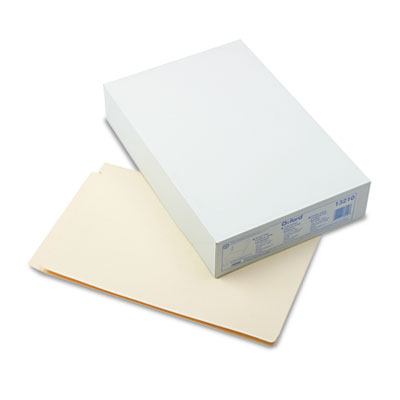 Laminate Folder with One Fastener, Straight Tab, 11 Pt. Manila, Legal, 50/Box