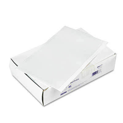 Self-Adhesive Vinyl Pockets, 5 x 8. Clear Front/White Backing, 100/Box