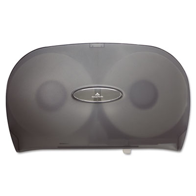 Jumbo Jr. Two-Roll Bathroom Tissue Dispenser, 20 8/25 x 6 x 12 19/25, Smoke