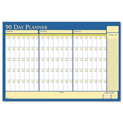 Nondated Reversible Laminated Organizer, 90/120 Day, 36 x 24