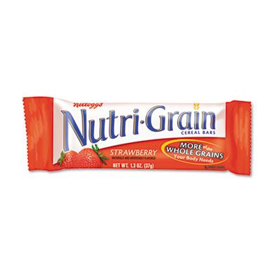 Nutri-Grain Cereal Bars, Strawberry, Indv Wrapped 1.3oz Bar, 16 Bars/Box