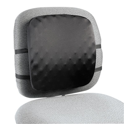 Halfback Back Support Chair Pad, 13w x 1-1/2d x 13-3/4h, Black