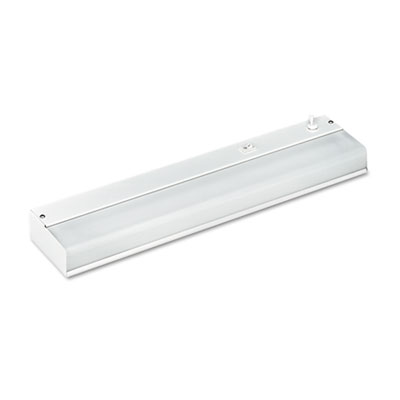Under-Cabinet Fluorescent Fixture, Steel, 18-3/4 x 3-7/8 x 1-1/2, White