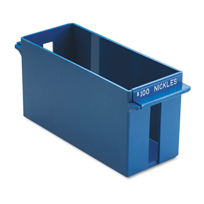 Porta-Count System Extra-Capacity Rolled Coin Plastic Storage Tray, Blue