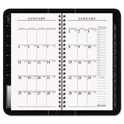 "Executive Recycled Weekly/Monthly Appointment Book, Black, 3 1/4"" x 6 1/4"", 2013"