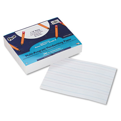 Multi-Program Handwriting Paper, 16 lbs., 8 x 10-1/2, White, 500 Sheets/Pack