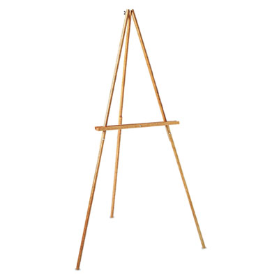 "Lightweight Tripod Floor Easel, 64"" High, Natural Oak"