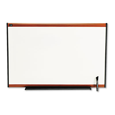 Total Dry Erase Board, 36 x 24, White, Cherry Frame