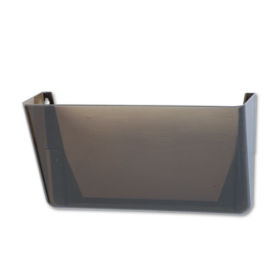 Stak-A-File Single Wall Pocket, Letter, Smoke