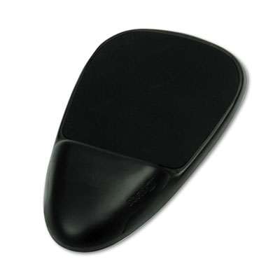 SoftSpot Mouse Pad w/Wrist Rest, Nonskid Base, 7-1/2 x 13, Black