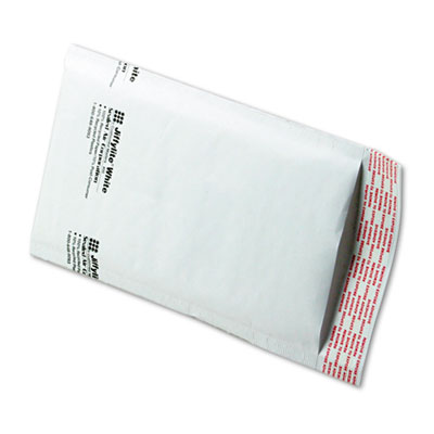 Jiffylite Self-Seal Mailer, Side Seam, #00, 5 x 10, White, 250/Carton