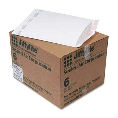 Jiffylite Self-Seal Mailer, Side Seam, #6, 12 1/2 x 19, White, 50/Carton