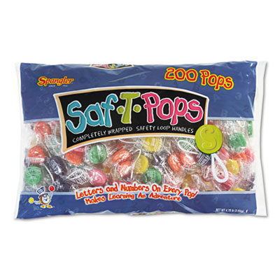 Saf-T-Pops, Assorted Flavors, Individually Wrapped, 200/Pack
