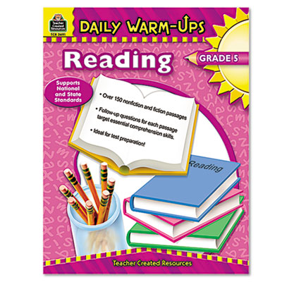 Daily Warm-Ups: Reading, Grade 5, Paperback, 176 Pages