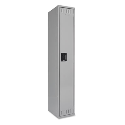 Single Tier Locker, 12w x 18d x 72h, Medium Gray