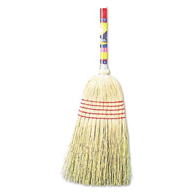 "Maid Broom, Mixed Fiber Bristles, 42"" Wood Handle, Natural"