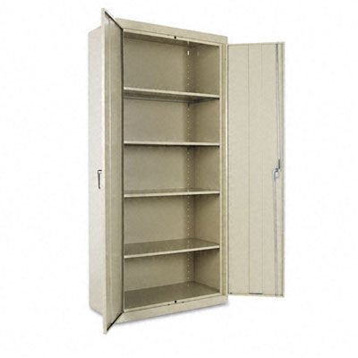 Lockable Storage Cabinet. Assembled storage cabinet with
