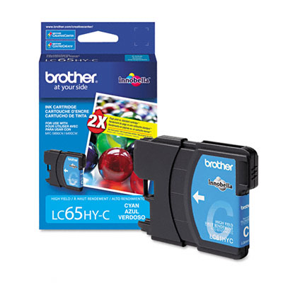 LC65 Inkjet Cartridge, High Yield, 900 Page-Yield, Cyan