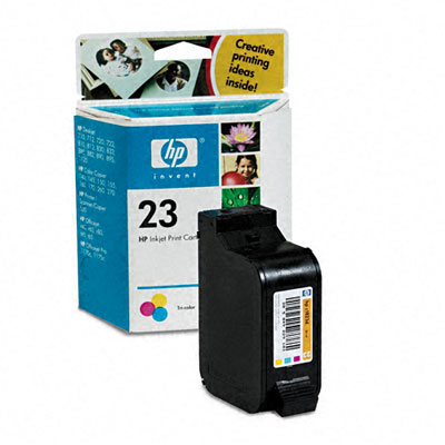 C1823D (HP23) Inkjet Cartrge, 620 Page-Yield, Tri-Color (Cyan, Magenta, Yellow)