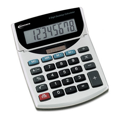 15925 Handheld Calculator, Eight-Digit LCD