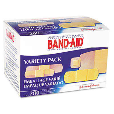 Sheer/Wet Adhesive Bandages, Assorted Sizes, 280/Box by BAND-AID ...
