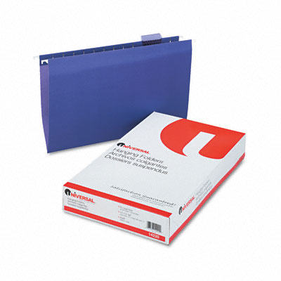 Hanging File Folders, 1/5 Tab, 11 Point Stock, Legal, Violet, 25 per Box