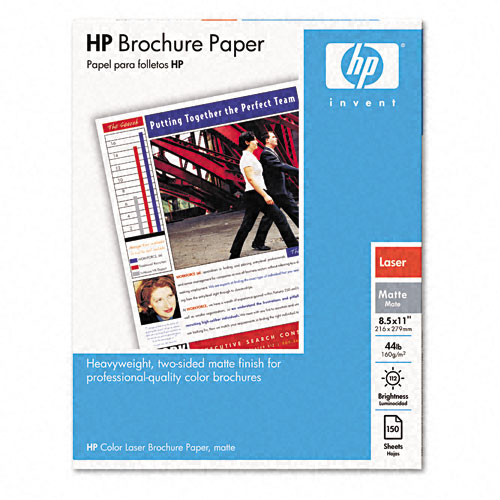 HP Color Laser Matte Brochure Paper, 112 Brightness, 44lb, Letter, 150 Sheets at Sears.com