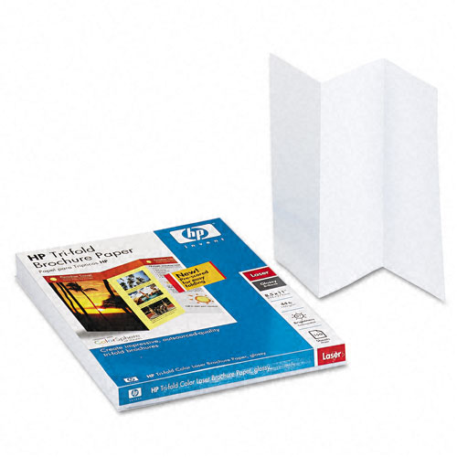 HP Tri-Fold Color Laser Brochure Paper, Glossy, 8-1/2 x 11, White, 150 Sheets/Pack at Sears.com