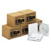 CD-RW Discs, 700MB/80min, 4x, w/Slim Jewel Cases, Silver, 100/Carton