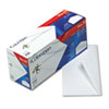 Gummed Seal Business Envelope, Executive Style, #10, White, 100/Box
