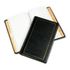 Looseleaf Minute Book, Black Leather-Like Cover, 125 Pages (250 Cap), 8 1/2 x 14