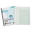 Accounting Pad, Five Eight-Unit Columns, 8-1/2 x 11, 50-Sheet Pad